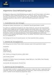 Allgemeine Geschäftsbedingungen - Tchibo
