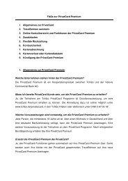 FAQs zur PrivatCard Premium 1. Allgemeines zur ... - Tchibo