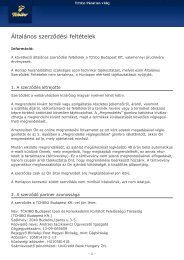 Általános szerződési feltételek - Tchibo Online-Shop