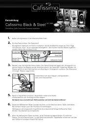 Cafissimo Black & Steel