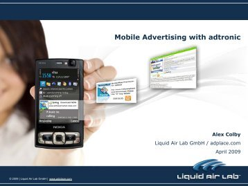 Mobile Advertising with adtronic