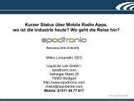Kurzer Status über Mobile Radio Apps, wo ist die Industrie heute?