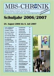 CHRONIK Schuljahr 2006/2007