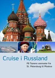 Cruise i Russland - Unik Travel