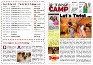 Tanzcamp Zeitung Samstag 03.10.09.pub