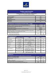Tchibo mobil Komfort-Tarif Preisliste v3.14