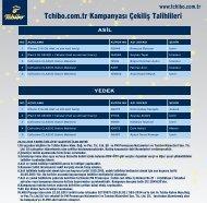Tchibo.com.tr Kampanyası Çekiliş Talihlileri