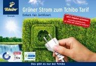 Grüner Strom zum Tchibo Tarif