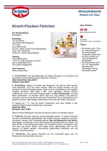 Kirsch-Flocken-Törtchen