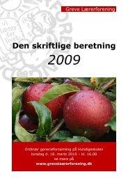 Den skriftlige beretning 2009 - Greve Lærerforening
