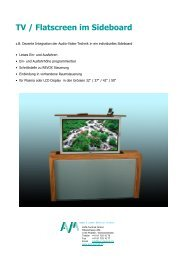 TV / Flatscreen im Sideboard