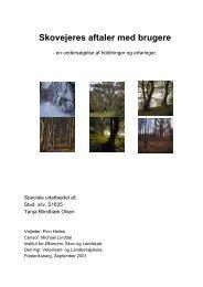 Skovejeres aftaler med brugere - Dansk Skovforening