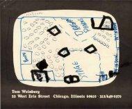 Tom Weinberg 22 West Erie Street Chicago, Illinois 60610 312/649 ...
