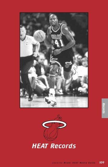 HEAT Records - NBA Media Central