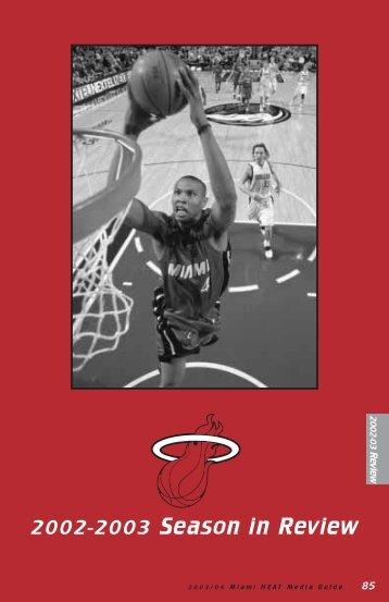 2002-2003 Season in Review - NBA Media Central