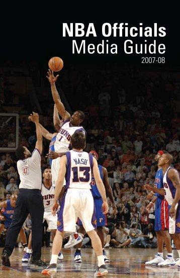 Nba officials media guide - mediacentral - NBA Media Central