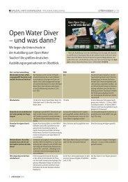 Open Water Diver – und was dann? - Unterwasser