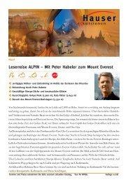 Leserreise ALPIN – Mit Peter Habeler zum Mount Everest - Alpin.de