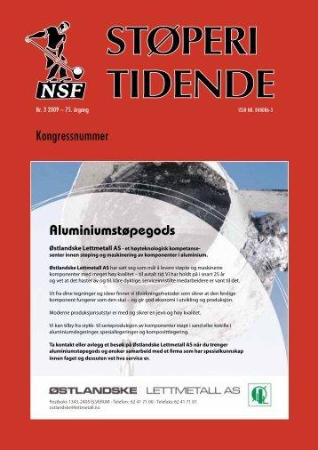 StøperIkongreSSen 2009 - Norges Støperitekniske Forening