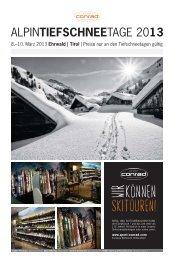 ALPINTIEFSCHNEETAGE 2013 - Alpin.de