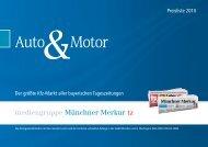 Auto Motor - mediengruppe Münchner Merkur tz - Mediadaten 2010 ...