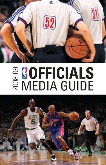 Officials Guide 2008 - NBA Media Central
