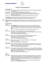 www.pensjonistakademiet.no Program for vårsemesteret 2011