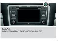 radioodtwarzacz samochodowy bolero - Media Portal - Škoda Auto