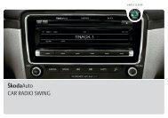 ŠkodaAuto CAR RADIO SWING - Media Portal - Škoda Auto