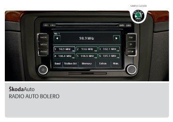 ŠkodaAuto RADIO AUTO BOLERO - Media Portal - škoda auto