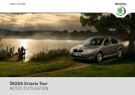 ŠKODA Octavia Tour NOTICE D'UTILISATION - Media Portal ...