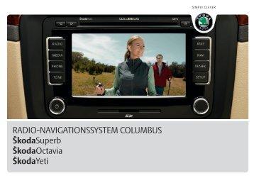 RADIO-NAVIGATIONSSYSTEM COLUMBUS ŠkodaSuperb ...