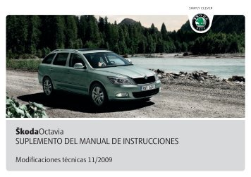 ŠkodaOctavia SUPLEMENTO DEL MANUAL DE ... - Media Portal