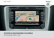 sistema di navigazione columbus istruzioni per l'uso - Media Portal ...