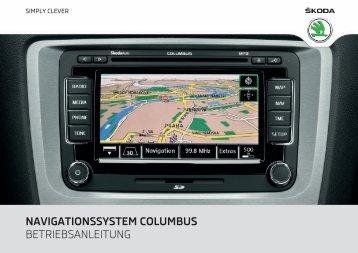 navigationssystem columbus - Media Portal - Škoda Auto