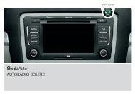 ŠkodaAuto AUTORADIO BOLERO - Media Portal - škoda auto