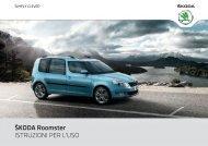 ŠKODA Roomster ISTRUZIONI PER L'USO - Media Portal - Škoda ...