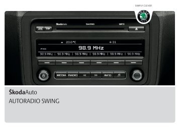 ŠkodaAuto AUTORADIO SWING - Media Portal - Škoda Auto
