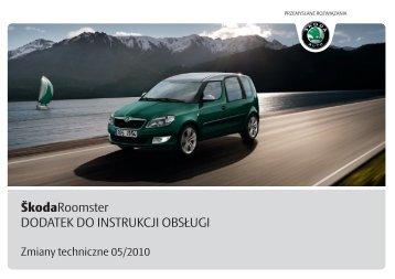 ŠkodaRoomster DODATEK DO INSTRUKCJI OBSŁUGI - Media Portal