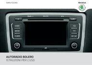 autoradio bolero istruzioni per l'uso - Media Portal - Skoda