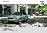 ŠKODA Fabia NOTICE D'UTILISATION - Media Portal - Škoda Auto