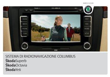 SISTEMA DI RADIONAVIGAZIONE COLUMBUS ŠkodaSuperb ...