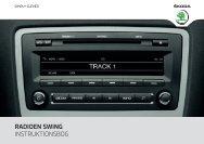 RADIOEN SWING INSTRUKTIONSBOG - Media Portal - Škoda Auto