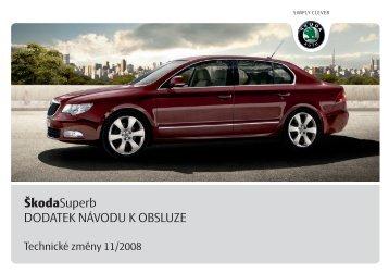 ŠkodaSuperb DODATEK NÁVODU K OBSLUZE - Media Portal