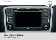 araç radyosu bolero kullanım kılavuzu - Media Portal - Škoda Auto
