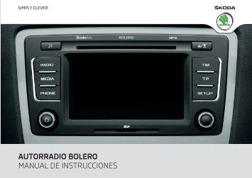 autorradio bolero manual de instrucciones - Media Portal - Skoda