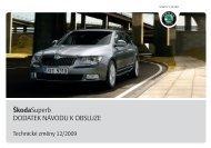 technické změny - Media Portal - Škoda Auto