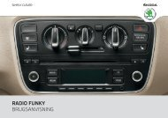 RADIO FUNKY BRUGSANVISNING - Media Portal - Škoda Auto