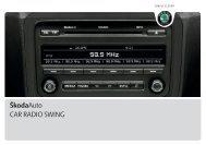 A05_Fabia_Swing_CarRadio - Media Portal - Škoda Auto
