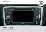 RADIO BOLERO INSTRUKTIONSBOK - Media Portal - Škoda Auto